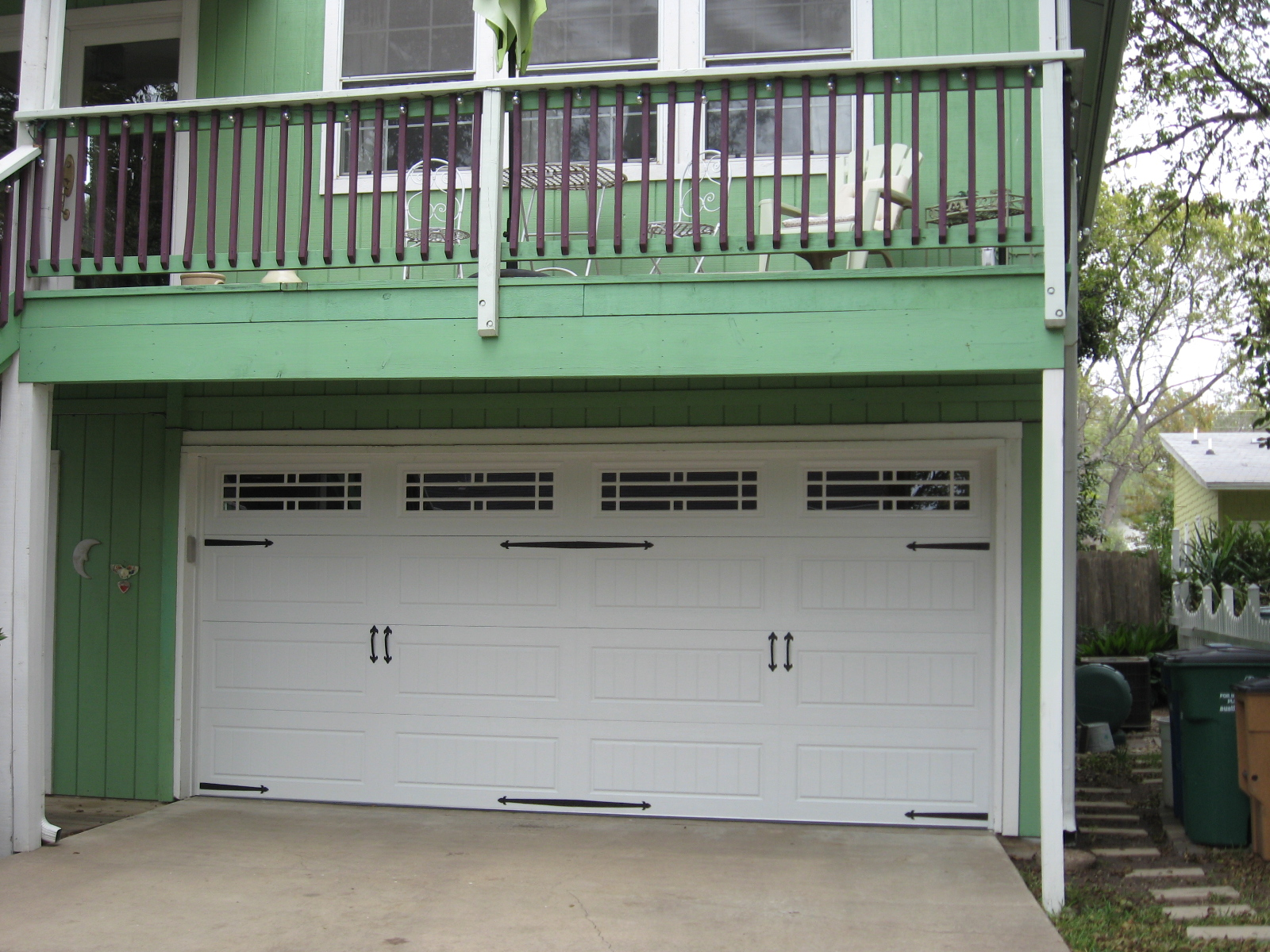 Commercial garage door opener on a 16 feet wide garage for Cedar park overhead garage doors