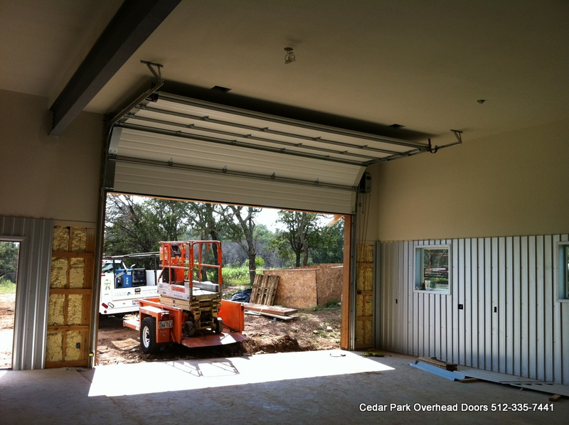 8500 Jackshaft Installed High Lift Door Installed By Cedar Park Overhead  Doors 512u2013335 7441