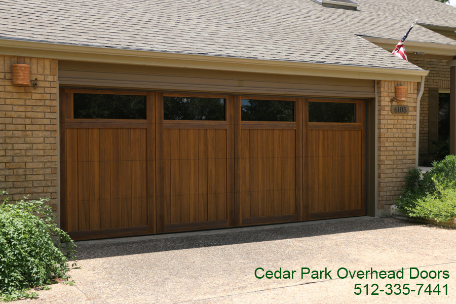 Wood free garage doors cedar park overhead doors for Cedar park overhead garage doors