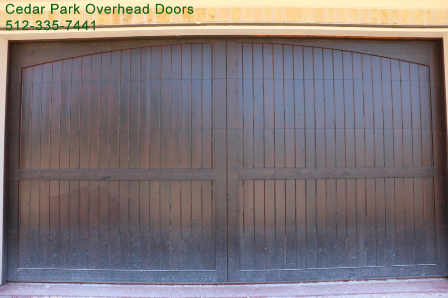 Custom wood garage doors cedar park overhead doors for Cedar park overhead garage doors