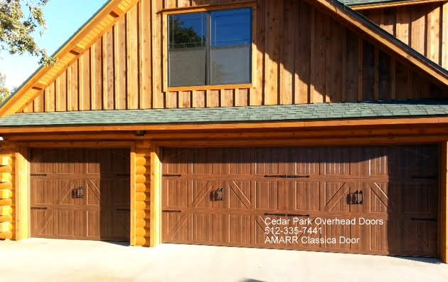 Carriage style garage doors cedar park overhead doors for Cedar park overhead garage doors