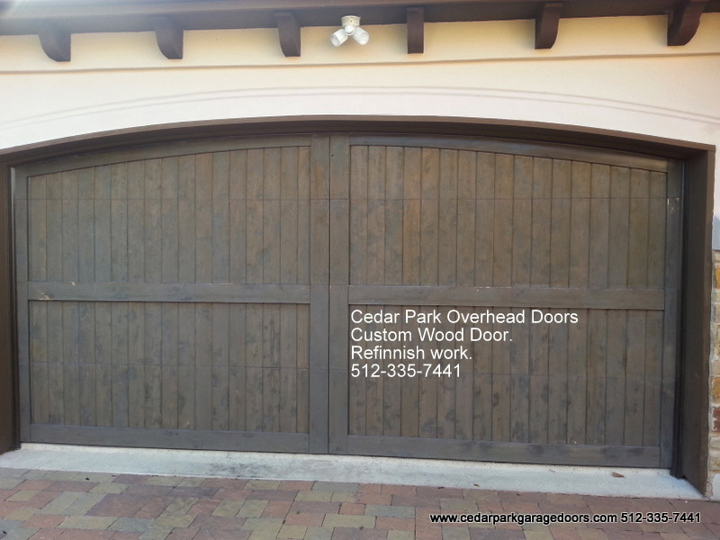 wood garage door builderGarage Door Refinishing  Cedar Park Overhead Doors