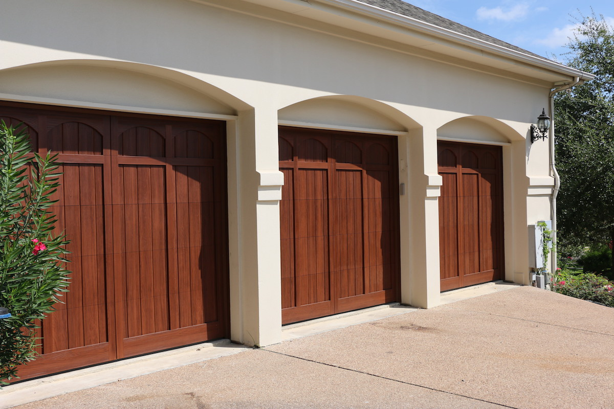 Wood free garage doors cedar park overhead doors for Overhead shed doors